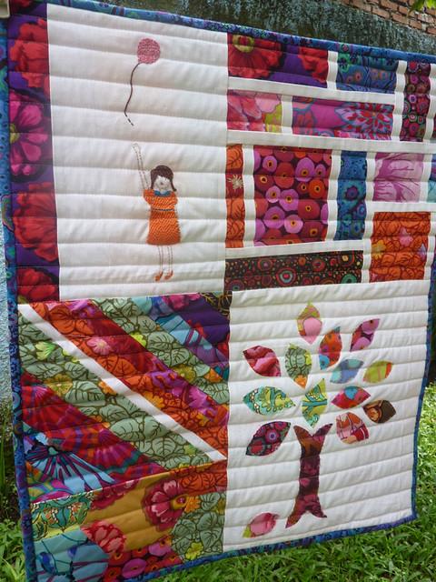 Mini quilt from scraps