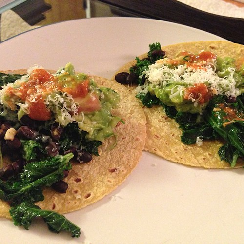 Noms, Not Bombs: Recipe: Kale and Black Bean Tacos