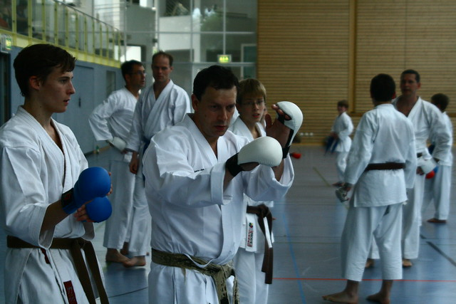 Kumite Training am Nachmittag