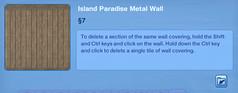 Island Paradise Metal Wall 2