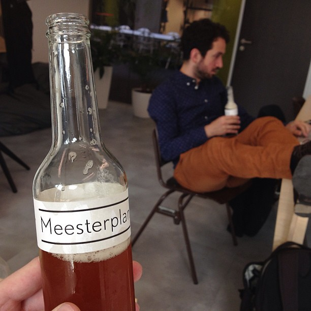 Drinking Perceptor's Meesterplan IPA after reviewing our 2013 master plan.