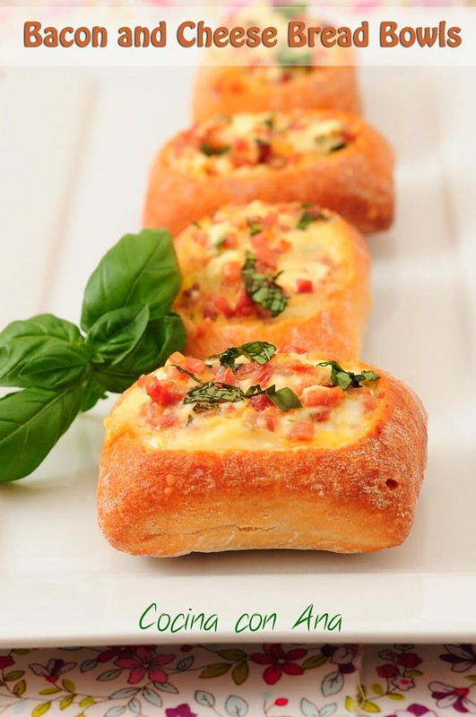 Bacon and Cheese Bread Bowls