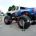 Fans check out the Bigfoot monster truck sponsored by TURBO