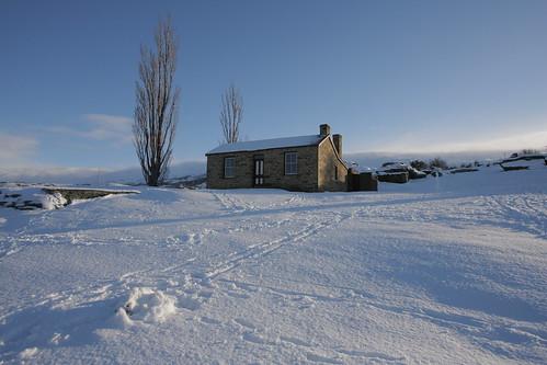 snow landscape centralotago fruitlands