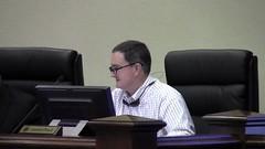 Commissioner Crawford Powell cracks a joke