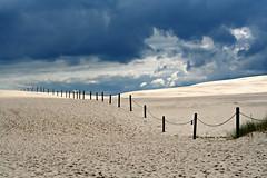 dark clouds & bright sand