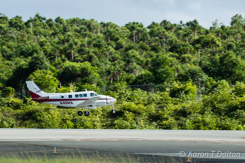 N46MA Taking Off Yap