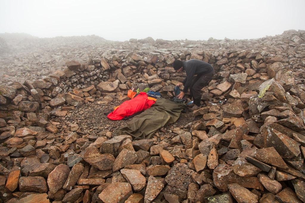 Sleeping on the summit of England