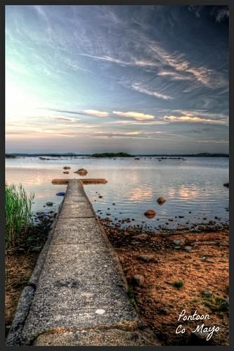 ireland lake water landscape evening jetty pontoon comayo fujifilmxe1 fujixe1
