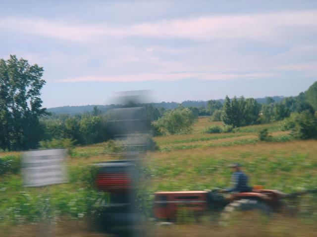 Da janela do comboio