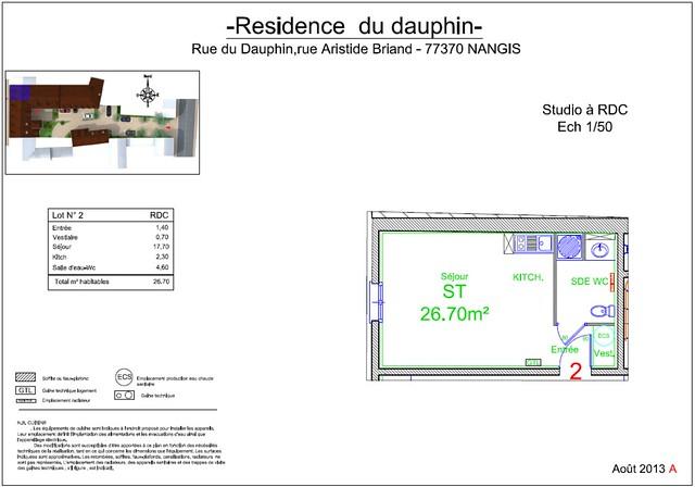 Résidence du Dauphin - Plan de vente - Lot n°2