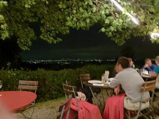 Blick auf den Bodensee bei Nacht