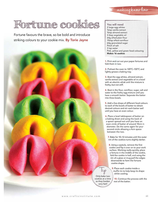 Fortune cookies in Making Magazine