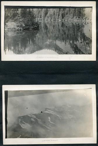 lake mountains nature washington album summit olympics 1910s