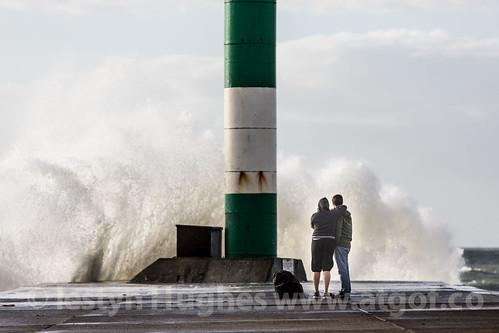 Stormy celebration at Aberystwyth.