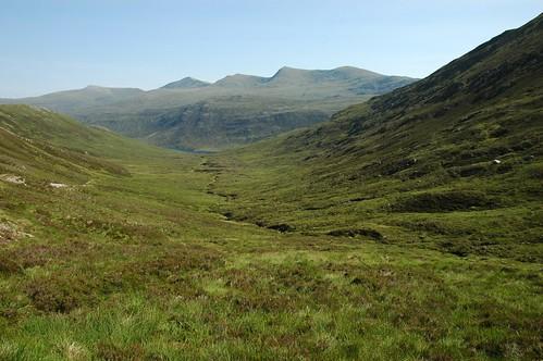 Strathfarrar hills from Drochaid Coire Mhadaidh