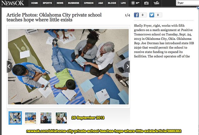 Oklahoma City private school teaches hope where little exists - NewsOK article 25 Sept 2013