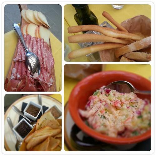 antipasti ristorante rosmarino castelfalfi