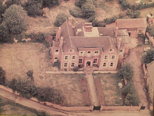 Jan fords world aerial photography showing brewood hall this picture must date from the 1970s when the path to the front gate was flanked with flower beds the road at the front of the property sparrows end gumiabroncs Gallery