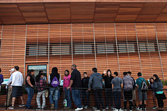 Students Wait in Line at Stevens Institute of Technology SD2013 House