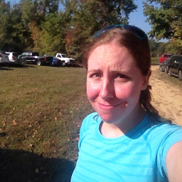 Zombie Run 5K, aka my non-excited face.
