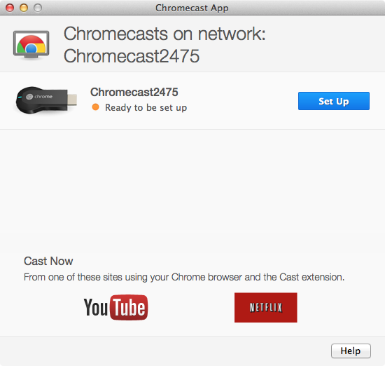 Google Chromecast - Setup Step 1