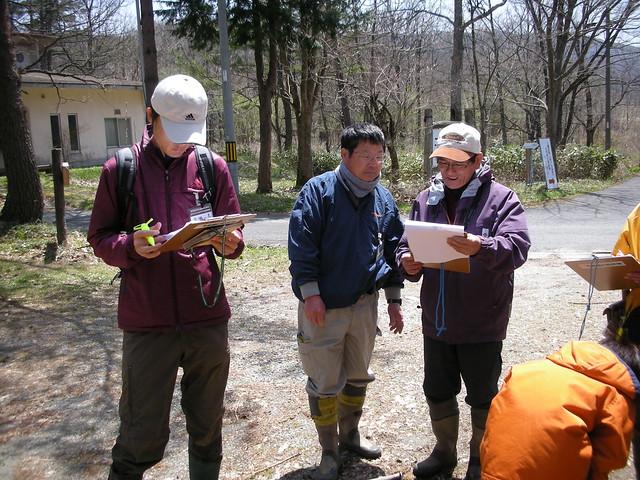 最後に各班からの報告.自分の班とは違う結果に,参加者も興味津々だった.
