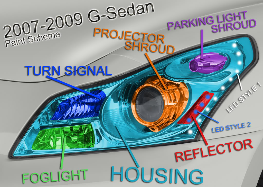 Vendor ONEighty 2007+ G35 SEDAN custom headlight