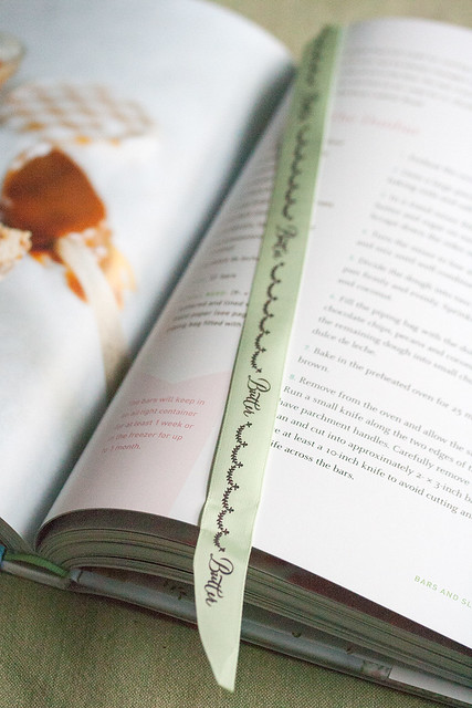 Ribbon Bookmark in the Butter Baked Goods Cookbook