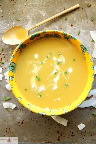 Thai Coconut Butternut Squash Soup