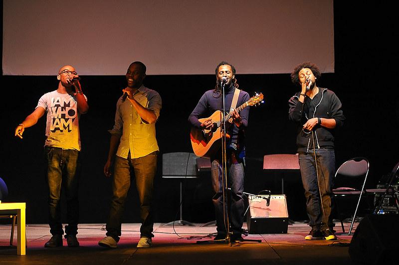 Evry Daily Photo - Ask Em x Harold x Malone - Concert Litteraire aux Arenes de l'Agora Evry 01