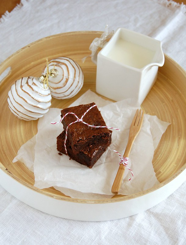 Gingerbread brownies / Brownies de gingerbread