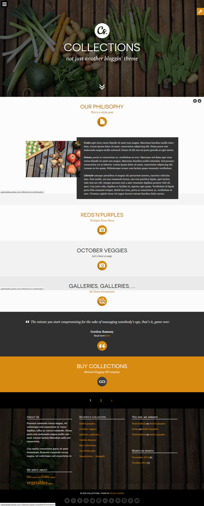 Collections - Minimal Multipurpose Blogging Theme
