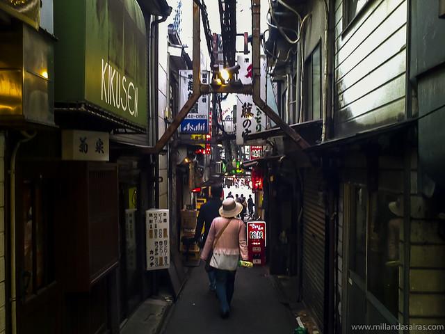 Calles de Golden Gai en Shinjuku