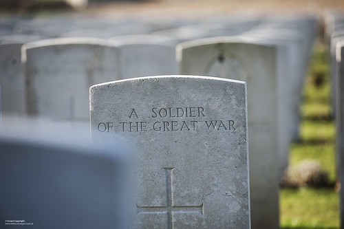 War Grave at Tyne Cot Cemetary, Belgium