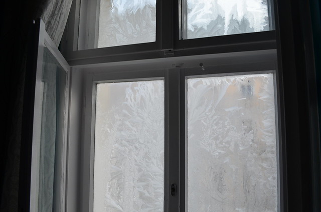 frozen bedroom windows