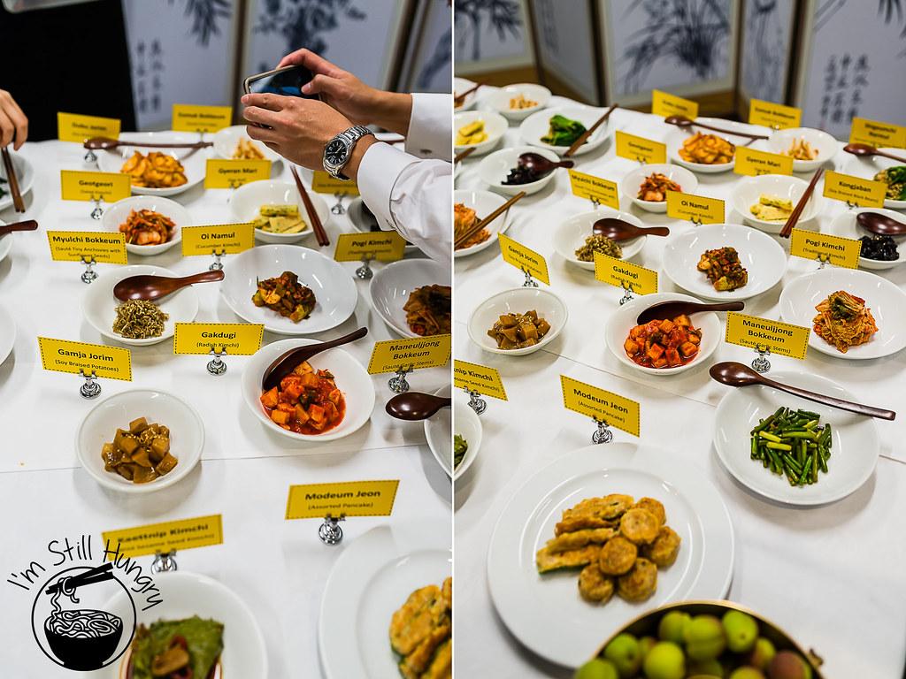 Korean banquet showcase banchan