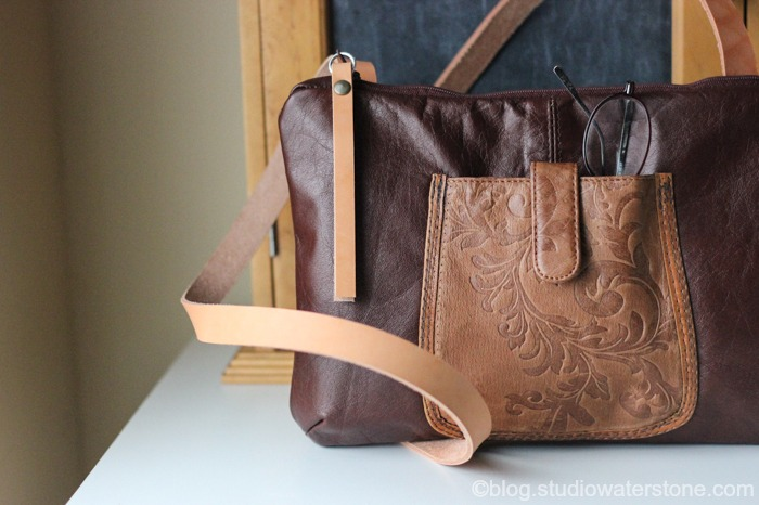 Recycled Leather Crossbody