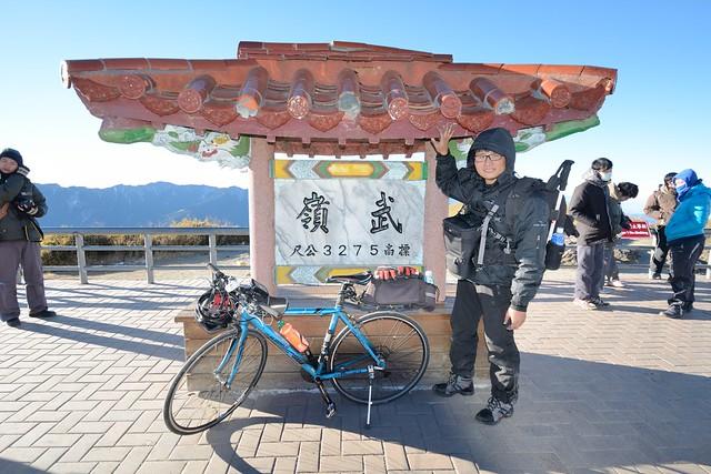登上武嶺亭:個人單車最高海拔 3275 公尺