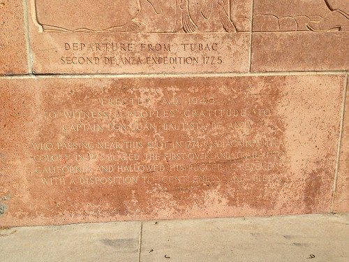 1940 WPA Relief behind Anza Statue Riverside