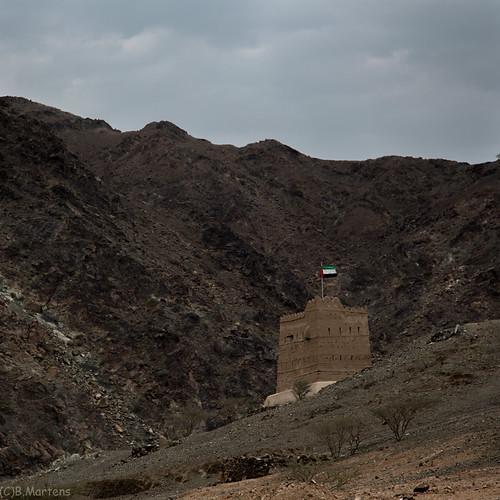 mountain tower hail rocks watch uae historic defense wadi fujairah hayl