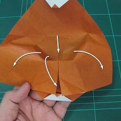 การพับกระดาษเป็นที่คั่นหนังสือหมีแว่น (Spectacled Bear Origami)  โดย Diego Quevedo 019