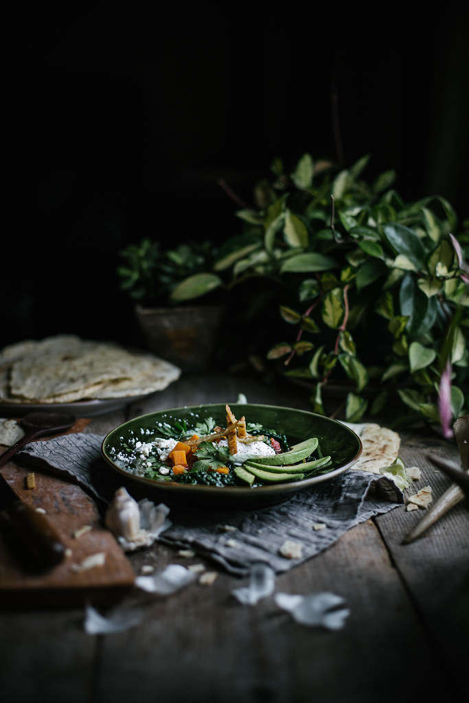 Sweet Potato & Kale Tortilla Soup from Feast by Sarah Copeland