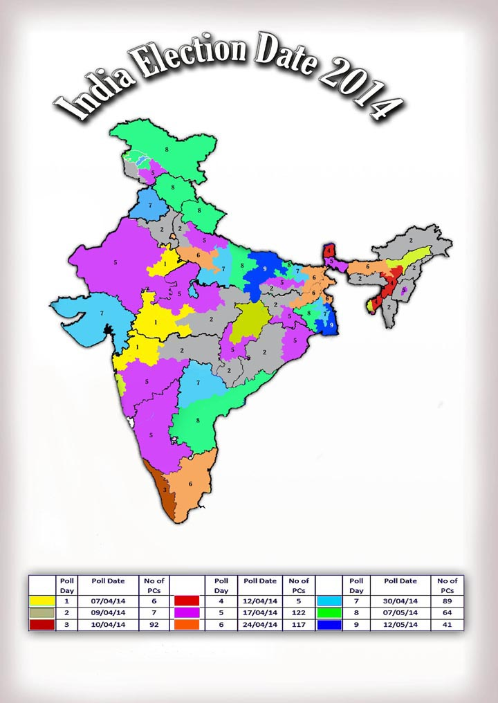 lok sabha elections 2014 dates