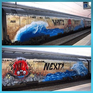 The nuclear disaster in Fukushima, the inspiration for the most impressive wholecar I've ever seen #repost #381