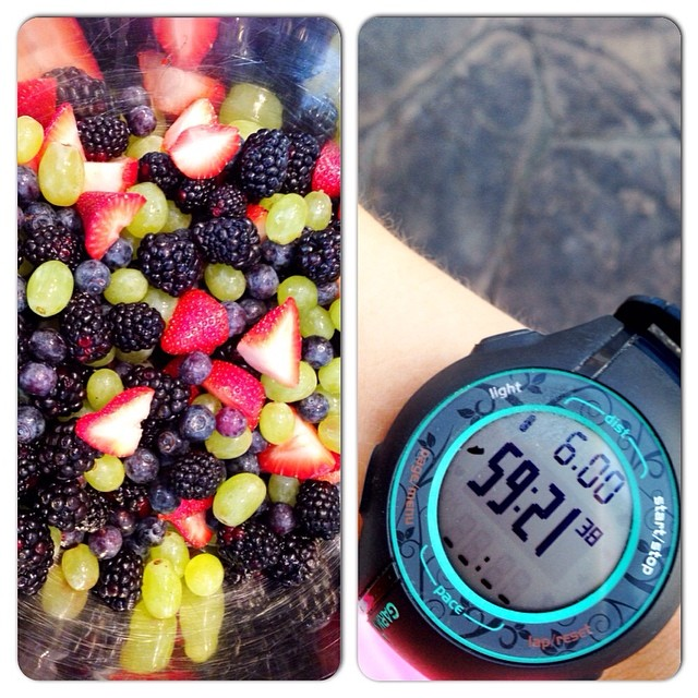 Day 12. Fresh. My day was wonderful... I made Pioneer Woman's Orange-Vanilla Fruit Salad (omg, I die!) with FRESH fruit and I just enjoyed some crisp FRESH air during a 6 mile training run! #fmsphotoaday