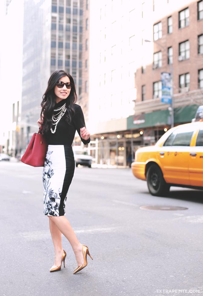 WHBM floral skirt3