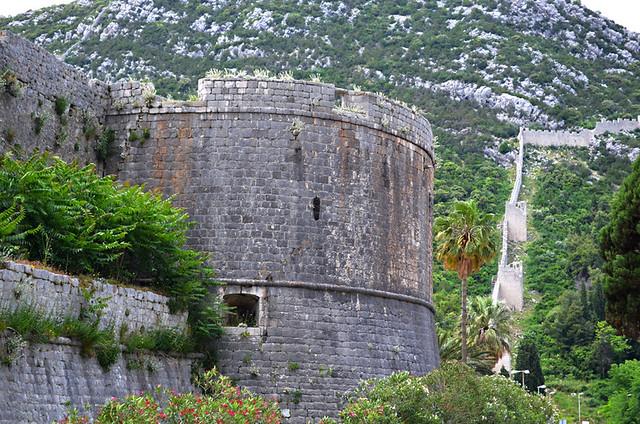 Fortress wall, Ston, Peljesac, Croatia