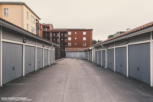 city urban car landscape town sweden box garage sverige saverio katrineholm södermanland autellitano