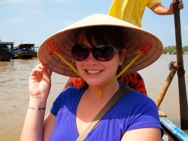 Sampan boat ride in the Mekong Delta
